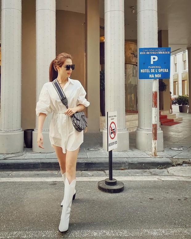 Hoa hậu Giáng My lăng xê mốt áo chần bông sặc sỡ, Hồng Diễm 'đổi gió' với style cá tính - ảnh 6