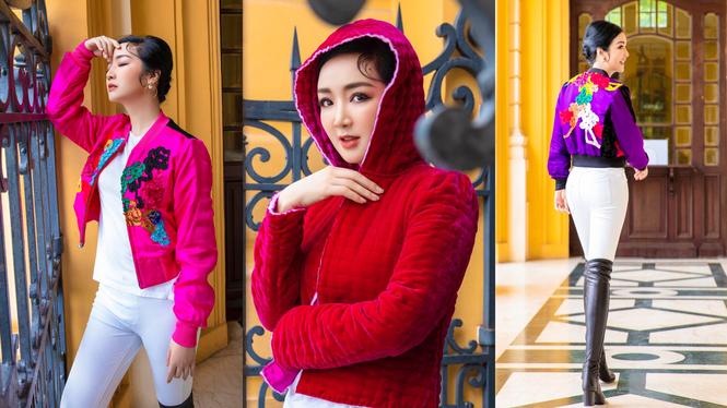 Hoa hậu Giáng My lăng xê mốt áo chần bông sặc sỡ, Hồng Diễm 'đổi gió' với style cá tính - ảnh 4