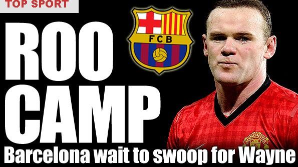 The Sun đưa tin Barca sẵn sàng nhảy vào cuộc đua giành chữ ký của Rooney