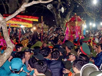 Tại lễ Khai ấn đền Trần. Ảnh: Minh Đức