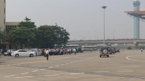 Chùm ảnh: Tiễn đưa Đại tướng tại sân bay Nội Bài - ảnh 12