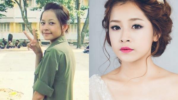 Chi Pu cũng là một trong những hot girl có gương mặt đẹp tự nhiên dù để mặt mộc hay đã qua trang điểm. Trong nhiều trường hợp, trang điểm đậm lại khiến Chi Pu kém xinh hơn