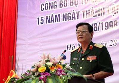Thứ trưởng Bộ Quốc phòng Nguyễn Thành Cung phát biểu động viên, chỉ đạo, giao nhiệm vụ cho Cảnh sát biển Việt Nam