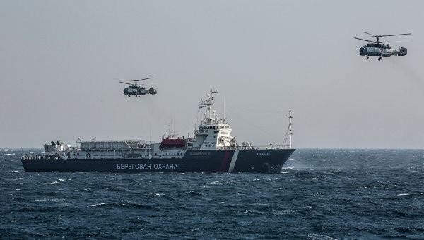 Lực lượng bảo vệ biển Nga-Hàn diễn tập trận