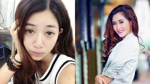 Hà Min là mẫu teen nổi tiếng trong giới trẻ Hà Thành. Cô may mắn sở hữu chiều cao vượt trội nhưng với gương mặt mộc, Hà Min lại để lộ nhiều khuyết điểm: da sần sùi, mắt thiếu sức sống... Hình ảnh cho thấy sức mạnh của make up đã biến một cô gái bình thường trở nên xinh đẹp vượt trội