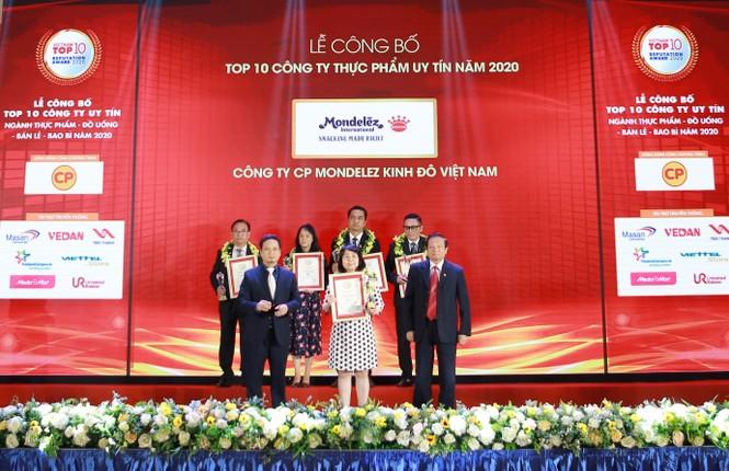 Mondelez Kinh Đô được vinh danh top 10 công ty thực phẩm uy tín năm 2020 - ảnh 1