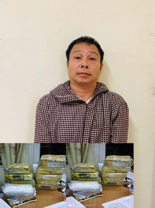 Bắt quả tang đối tượng vận chuyển 10 kg ma túy đá từ Lào về Việt Nam  - ảnh 1