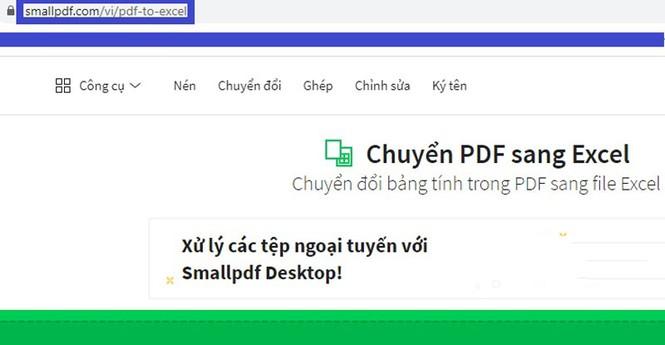 Hướng dẫn chuyển đổi file PDF sang Excel không cần phần mềm - ảnh 1