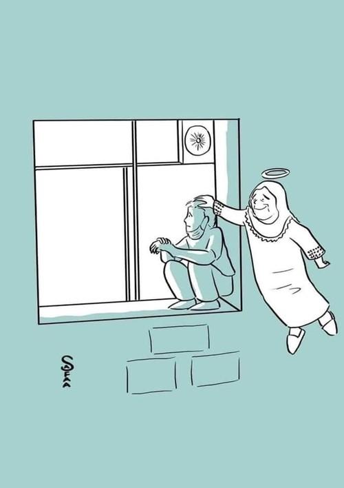 Nghẹn ngào hình ảnh con trai trèo lên cửa sổ phòng bệnh, tạm biệt mẹ lần cuối cùng - ảnh 2