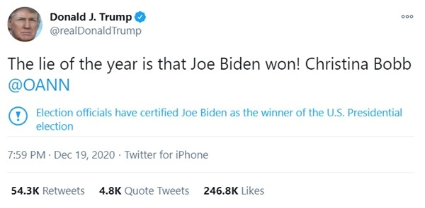 """Twitter """"thay đổi thái độ"""" với Tổng thống Trump: Gắn vào bài câu cảnh cáo mà ông ghét nhất - ảnh 2"""