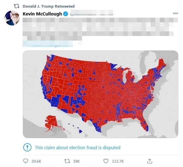 """Tổng thống Trump đăng bản đồ bầu cử """"kiểu mới"""" để chứng minh mình thắng: Thực tế là gì? - ảnh 1"""