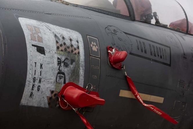 Xem dàn tiêm kích F-15E 'phiên bản Halloween' của Không quân Hoàng gia Anh - ảnh 14