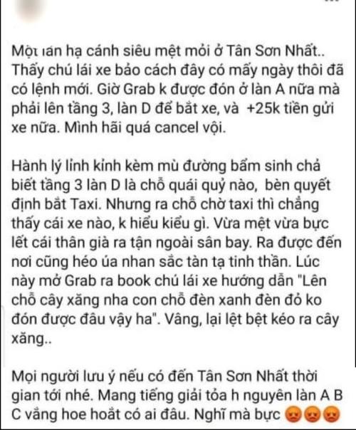 Sân bay Tân Sơn Nhất đổi chỗ đón taxi công nghệ: Ghi nhận nhiều phản ánh