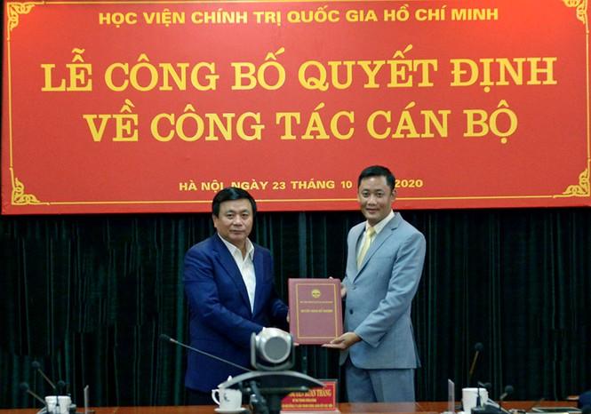Điều động, bổ nhiệm nhân sự Học viện Chính trị Quốc gia Hồ Chí Minh - ảnh 2