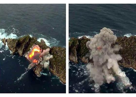 Xem tên lửa Triều Tiên rời bệ phóng, nhắm trúng mục tiêu trên biển - ảnh 6