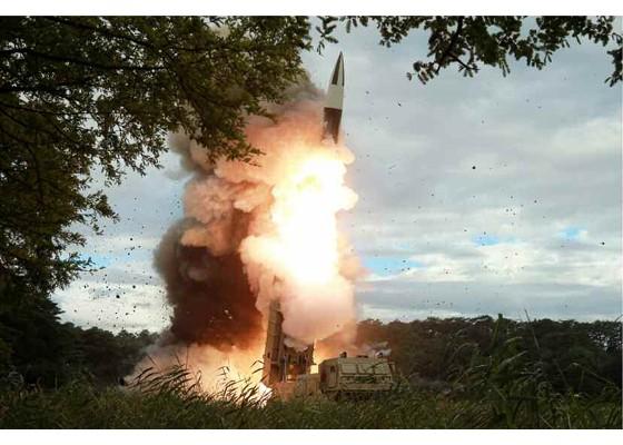 Xem tên lửa Triều Tiên rời bệ phóng, nhắm trúng mục tiêu trên biển - ảnh 2