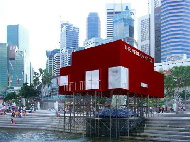 Singapore dỡ bỏ tượng sư tử biển lớn nhất để làm đường - ảnh 5