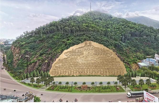 Núi Bà Hỏa, nơi Bình Định dự kiến tạc bức phù điêu