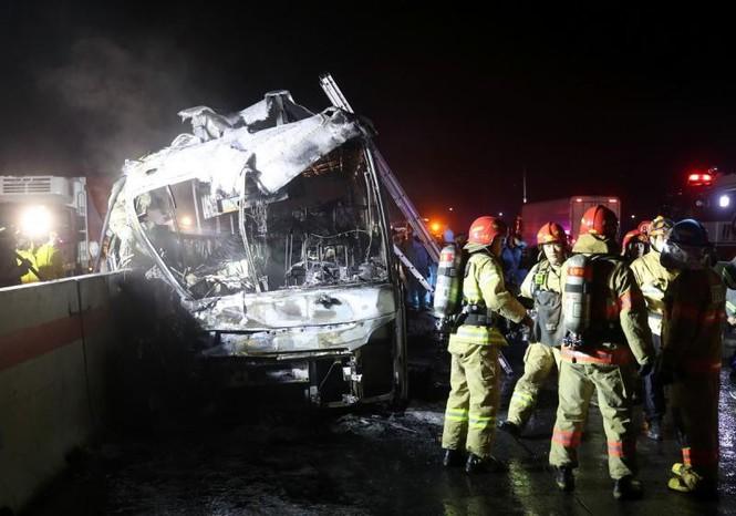 Xe bus cháy ngùn ngụt trên cao tốc, 10 người chết  - ảnh 4