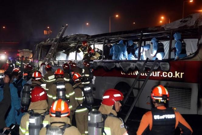 Xe bus cháy ngùn ngụt trên cao tốc, 10 người chết  - ảnh 6