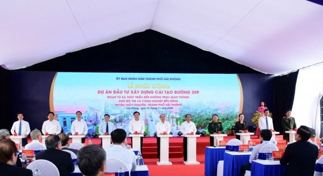 Thủ tướng dự lễ khởi công dự án giao thông nghìn tỷ ở Hải Phòng - ảnh 1