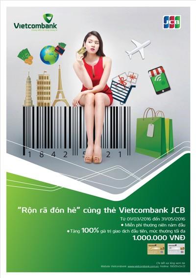 """Chương trình """"Rộn rã đón hè"""" dành cho thẻ Vietcombank JCB  - ảnh 1"""