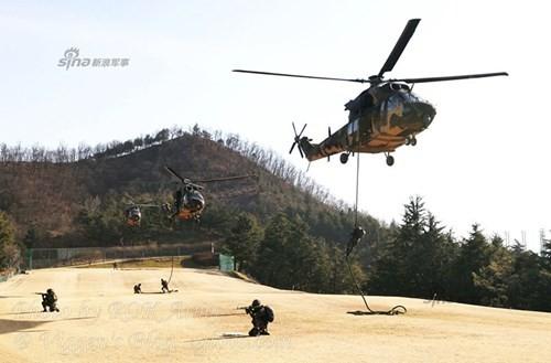 Tận thấy trực thăng 'khủng' Surion Hàn Quốc lần đầu tập trận - ảnh 1