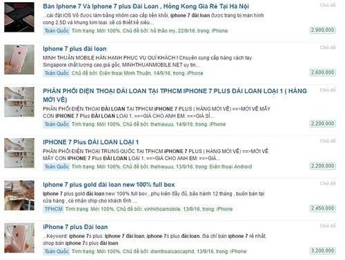 Hàng nhái iPhone 7, 7 Plus giá rẻ bán tràn lan ở TP HCM - ảnh 1