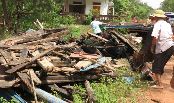 Xót xa xã biển Cảnh Dương sau mưa lũ - ảnh 6