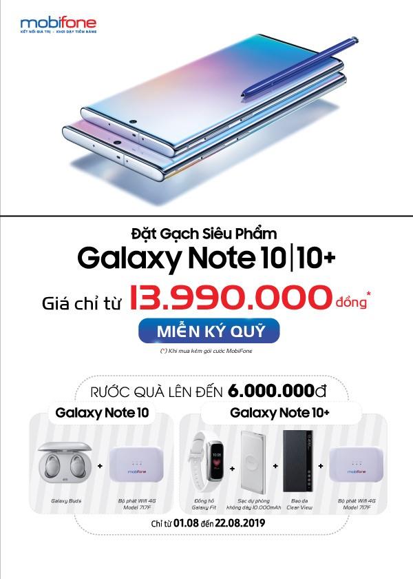 Quà tặng 'siêu phẩm' khi mua Samsung Galaxy Note10/Note10+ tại Mobifone - ảnh 1