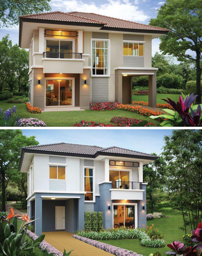 Những mẫu nhà 2 tầng mái thái kiểu mới đẹp ngẩn ngơ - ảnh 1