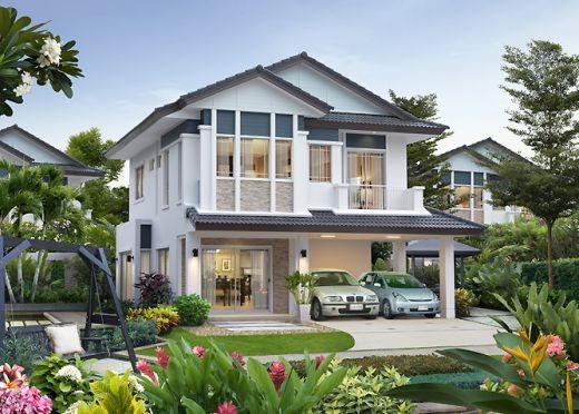 Những mẫu nhà 2 tầng mái thái kiểu mới đẹp ngẩn ngơ - ảnh 4