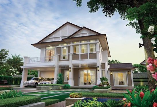 Những mẫu nhà 2 tầng mái thái kiểu mới đẹp ngẩn ngơ - ảnh 6