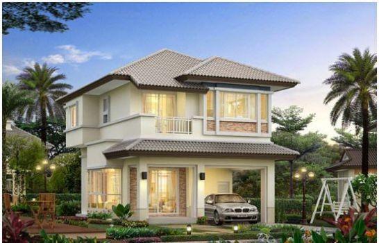 Những mẫu nhà 2 tầng mái thái kiểu mới đẹp ngẩn ngơ - ảnh 7
