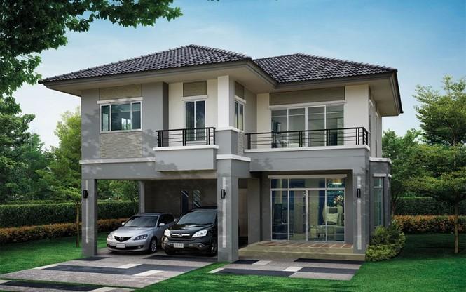 Những mẫu nhà 2 tầng mái thái kiểu mới đẹp ngẩn ngơ - ảnh 8