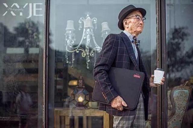 Mãn nhãn với cụ ông 85 tuổi sành điệu bậc nhất Trung Quốc - ảnh 4