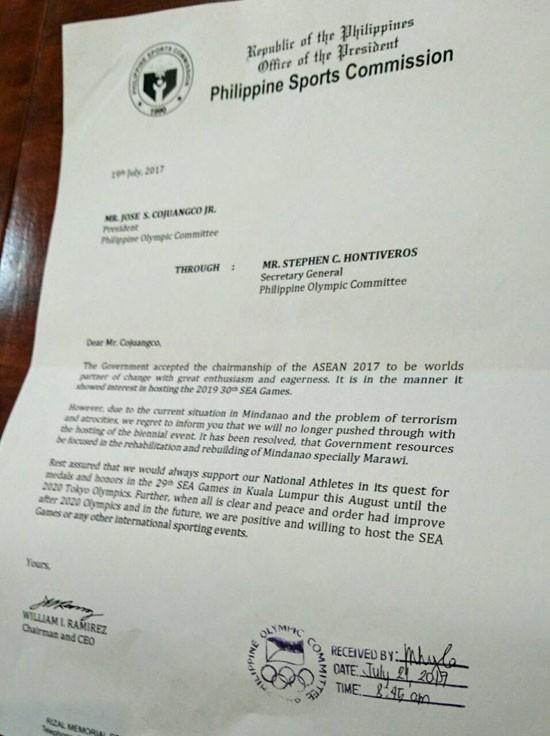 Philippines bất ngờ rút lui, không đăng cai SEA Games 30 - ảnh 1