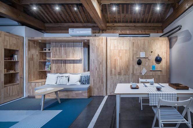 Ngôi nhà gỗ 30m2 'sang chảnh' đa tiện ích - ảnh 3