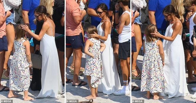 David Beckham khoe dáng 'ăn đứt' cậu cả, hôn vợ đắm đuối giữa tin đồn ly hôn - ảnh 14