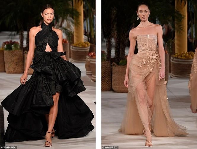 Irina Shayk và Candice Swanepoel đẹp động lòng người gây 'bão' sàn catwalk  - ảnh 1