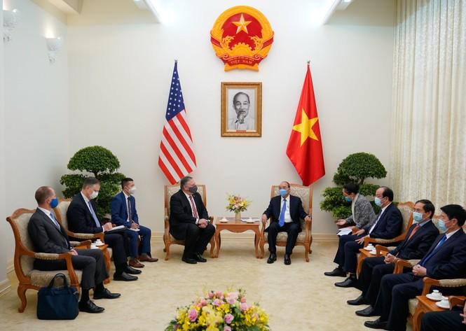 Thủ tướng Nguyễn Xuân Phúc tiếp Ngoại trưởng Mỹ - ảnh 1