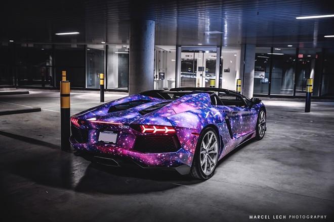 Lóa mắt với siêu xe Aventador Roadster 'thiên hà' - ảnh 5