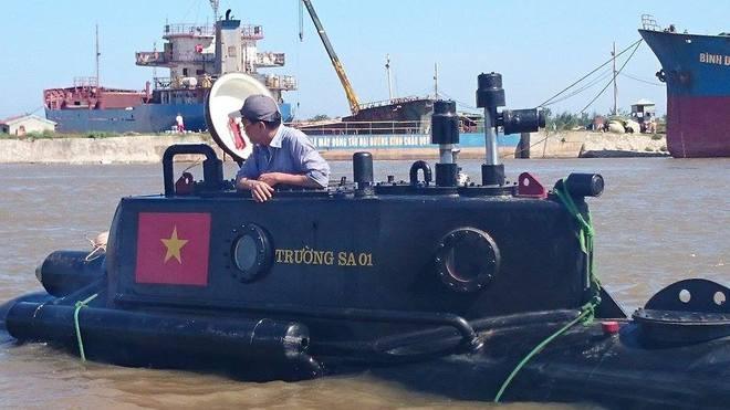 Tàu ngầm Trường Sa mini lần đầu thử nghiệm ở biển - ảnh 11