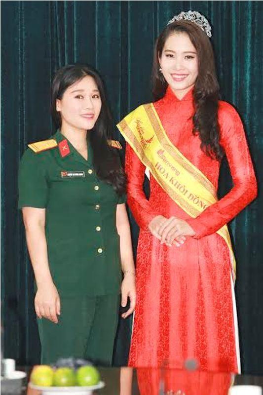 Trường  VHNT Quân đội tặng bằng khen cho Hoa khôi Nam Em - ảnh 7