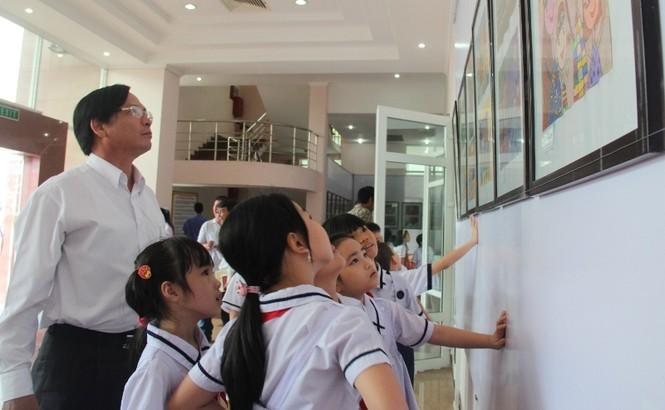 Hơn 500 học sinh tham gia tranh thiếu nhi về an toàn giao thông - ảnh 3