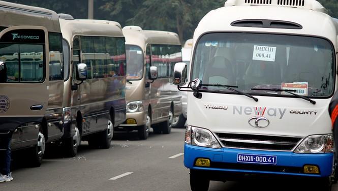 Cảnh khuyển tham gia rà soát xe phục vụ Đại hội - ảnh 1