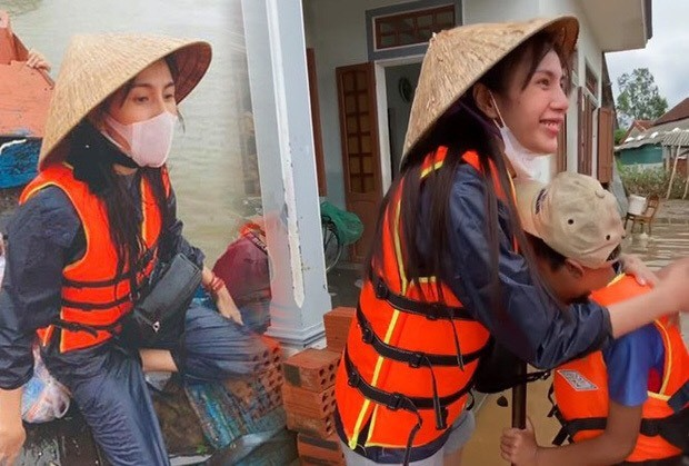 Sao Việt không ngại vào vùng lũ cứu trợ; Thanh Hương hài hước trong tạo hình mới - ảnh 1