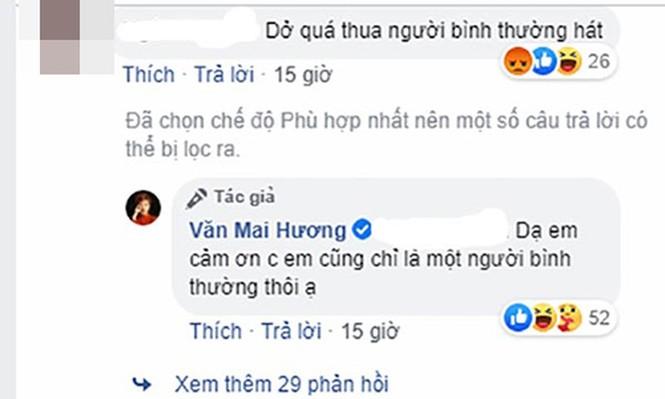 Động thái mới của Văn Mai Hương sau khi bị chê hát dở  - ảnh 1