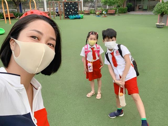 Sao Việt chia sẻ gì trong ngày đầu con quay lại trường sau dịch? - ảnh 1