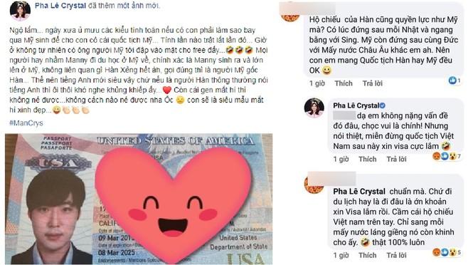 Pha Lê không muốn con sắp sinh mang quốc tịch Việt Nam khiến dân mạng 'dậy sóng' - ảnh 1